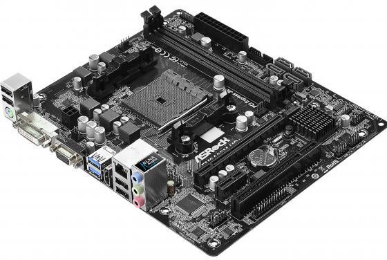 Материнская плата ASRock FM2A88M-HD+ R3.0 Socket FM2+ AMD A88X 2xDDR3 1xPCI-E 16x 1xPCI 1xPCI-E 1x 4xSATAIII mATX Retail