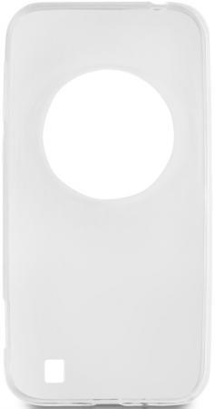 Чехол силиконовый супертонкий для Asus Zenfone Zoom (ZX550, ZX551ML) DF aCase-08 белый чехол для смартфона asus для zenfone zoom zx551ml leather case оранжевый 90ac0100 bbc005 90ac0100 bbc005
