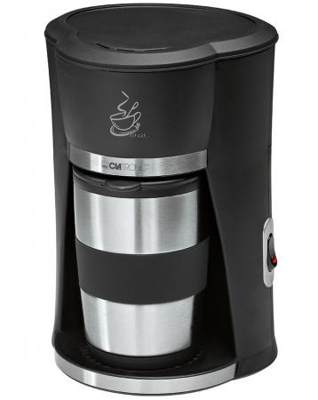 Кофеварка Clatronic KA 3450 550 Вт черно-серебристый