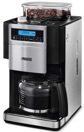 Кофеварка Princess 249402 1000 Вт черно-серебристый кофеварка clatronic ka 3450 550 вт черно серебристый