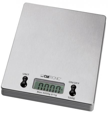Весы кухонные Clatronic KW 3367 серебристый мини печь clatronic mbg 3521