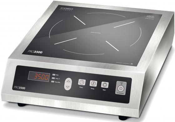 Индукционная электроплитка CASO PRO 3500 серебристый индукционная электроплитка caso pro menu 3500 чёрный