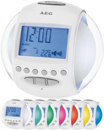 Часы с радиоприёмником AEG MRC 4117 whites light and sound штроборез aeg mfe 1500