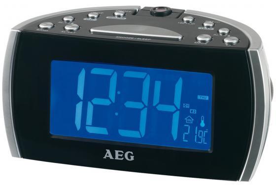 Часы с радиоприёмником AEG MRC 4119 P black чёрный цена и фото