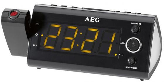 Радиочасы AEG MRC 4121 P black Sensor цена