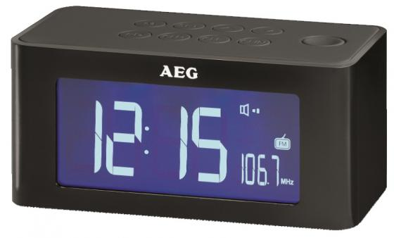Часы с радиоприёмником AEG MRC 4140 i black чёрный aeg t vl 5531 black вентилятор