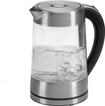 Чайник Clatronic WK 3501 G 2200 Вт прозрачный 1.7 л металл/стекло чайник clatronic wk 3501 g 2200 вт прозрачный 1 7 л металл стекло