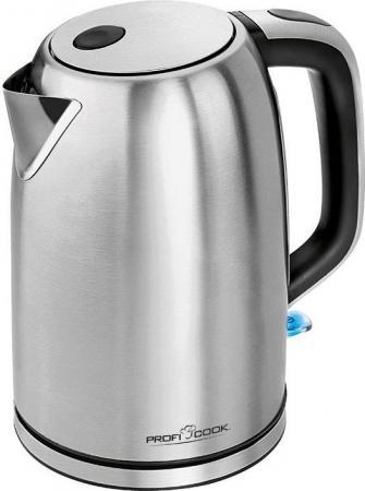 Чайник Profi Cook PC-WKS 1083 2200 Вт 1.5 л металл серебристый чайник clatronic wks 3625 2200 вт фиолетовый 1 8 л металл