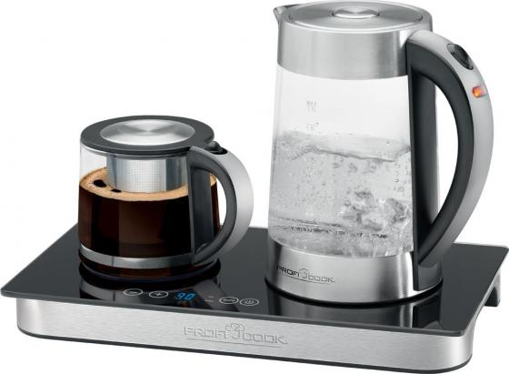 Чайный набор Profi Cook PC-TKS 1056 2200 Вт 1.7 л металл/стекло чёрный чайник profi cook pc tks 1056
