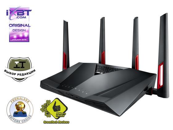 цена на Беспроводная точка доступа ASUS RT-AC88U 802.11ac 3167Mbps 2.4/5ГГц 8xLAN