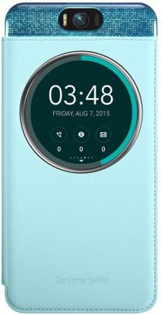 Чехол Asus для ZenFone Selfie ZD551KL голубой 90AC00X0-BCV004 чехол для смартфона asus для zenfone selfie zd551kl myview cover deluxe голубой 90ac00x0 bcv004 90ac00x0 bcv004