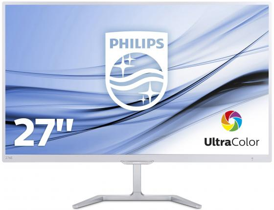 Монитор 27 Philips 276E7QDSW белый PLS 1920x1080 250 cd/m^2 5 ms DVI HDMI VGA Аудио 21 5 asus vs229ha va 1920x1080 250 cd m^2 5 ms dvi hdmi vga 90lme9001q02231c