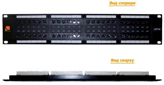 Патч-панель Lanmaster LAN-PPL48U5E 48 портов UTP кат.5E 2U патч панель lanmaster twt pp12utp h 10 1u 12xrj45 кат 5e utp