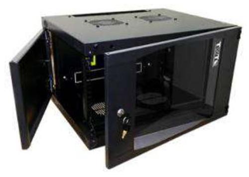 Шкаф настенный 6U Lanmaster TWT-CBWNG-6U-6X4-BK 550x450mm черный 60кг шкаф коммутационный lanmaster next twt cbwng 6u 6x4 bk 6u 550x450мм пер дв стекл 60кг черный