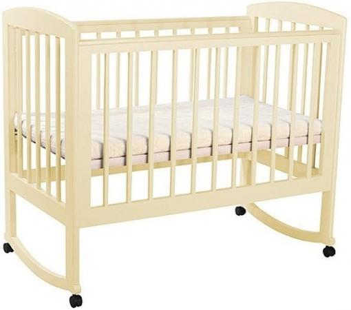 Кроватка-качалка Лель Ромашка АБ 16.0 (слоновая кость) кроватка качалка лель ромашка аб 16 0 орех светлый