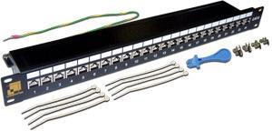 Патч-панель Lanmaster LAN-PPL24S6 24 порта STP кат.6 1U патч панель lanmaster twt pp24utp 19 1u