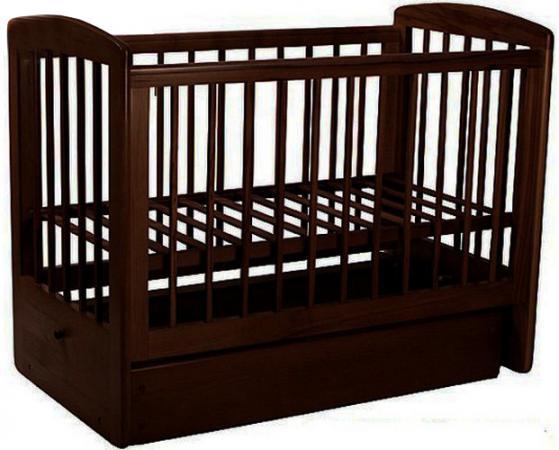 Кроватка с маятником Лель Ромашка АБ16.2 (венге) кроватка качалка лель лютик аб 15 1 белый