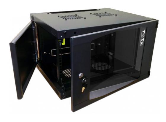Шкаф настенный 12U Lanmaster TWT-CBWNG-12U-6X4-BK 550x450mm черный 60кг шкаф коммутационный lanmaster next twt cbwng 6u 6x4 bk 6u 550x450мм пер дв стекл 60кг черный