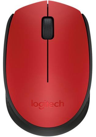 Мышь беспроводная Logitech M171 красный USB 910-004641 мышь logitech m171 blue usb [910 004640]