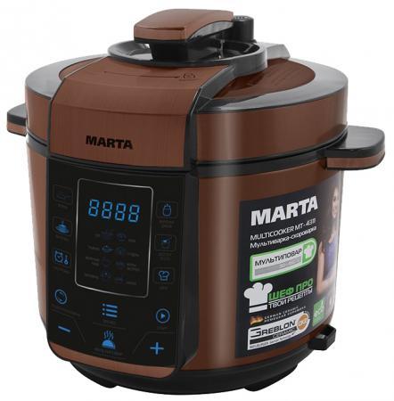Мультиварка Marta MT-4312 900 Вт 5 л черный коричневый набор столовых приборов marta mt 2701 twinkle