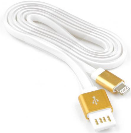 Кабель Lightning 1м Cablexpert плоский CC-ApUSBgd1m кабель usb 2 0 cablexpert am microbm 5p 1м золотой металлик cc musbgd1m