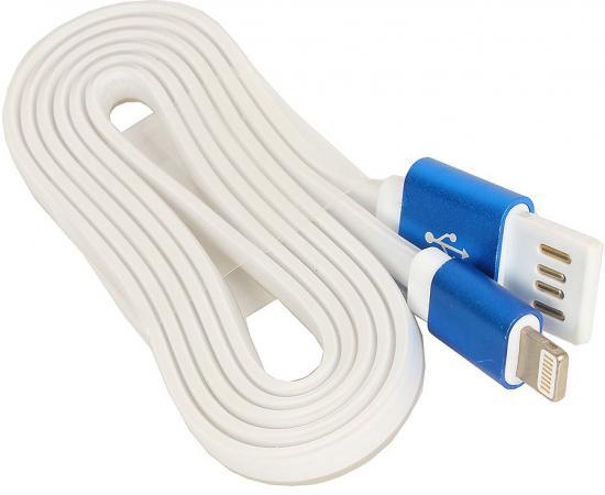 Кабель Lightning 1м Cablexpert плоский CC-ApUSBb1m кабель usb 2 0 cablexpert am microbm 5p 1м золотой металлик cc musbgd1m