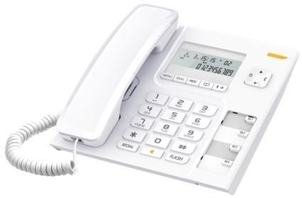 все цены на Телефон проводной Alcatel T56 белый онлайн