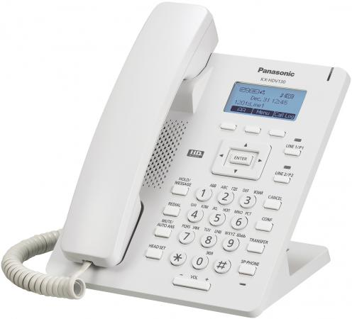 Телефон IP Panasonic KX-HDV100RU белый телефон ip panasonic kx nt556rub черный