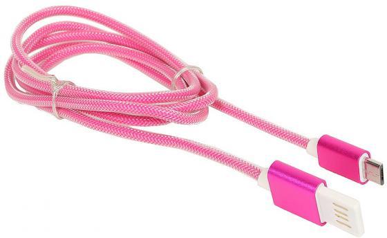 Кабель USB 2.0 AM-microBM 1м Gembird розовый металлик CCB-mUSBr1m кабель usb 2 0 am microbm 1м gembird золотистый металлик ccb musbgd1m