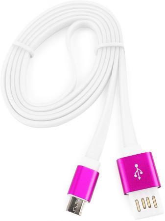 Кабель USB 2.0 AM-microBM 1м Gembird розовый металлик CC-mUSBr1m кабель usb 2 0 am microbm 1м gembird золотистый металлик cc musbgd1m