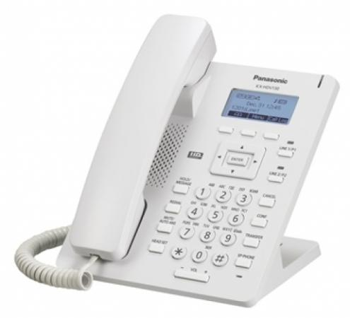 Телефон IP Panasonic KX-HDV130RU белый ip телефон panasonic kx hdv130rub