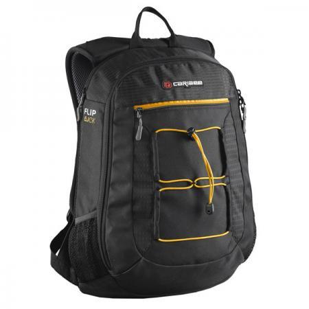 Рюкзак с отделением для ноутбука CARIBEE Flip Back 26 л черный 6451 рюкзак с отделением для ноутбука hama all out louth forest check 26 л зеленый серый 00129219