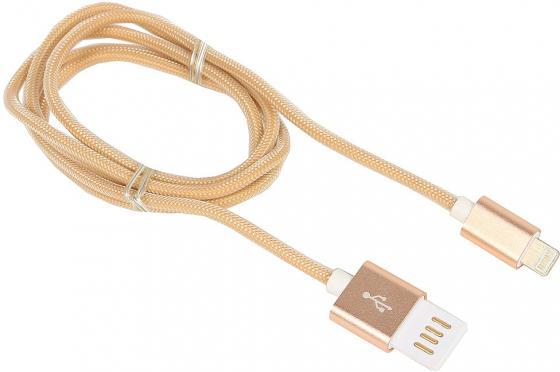 Кабель Gembird USB2.0 AM-Lightning 8P золотистый металлик 1м CCB-ApUSBgd1m кабель usb 2 0 am microbm 1м gembird золотистый металлик ccb musbgd1m