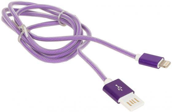 Кабель Gembird USB2.0 AM-Lightning 8P фиолетовый металлик 1м CCB-ApUSBp1m кабель usb 2 0 am microbm 1м gembird золотистый металлик cc musbgd1m