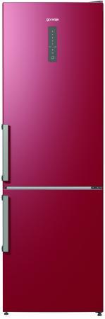 Холодильник Gorenje NRK6192MR красный холодильник gorenje nrk6192mr двухкамерный бордовый