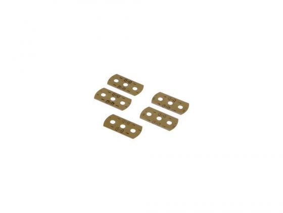 Лезвия для скребка H-110753/H-110702 Xavax нержавеющая сталь 5шт 00110726 сетчатый xavax нера hf 01