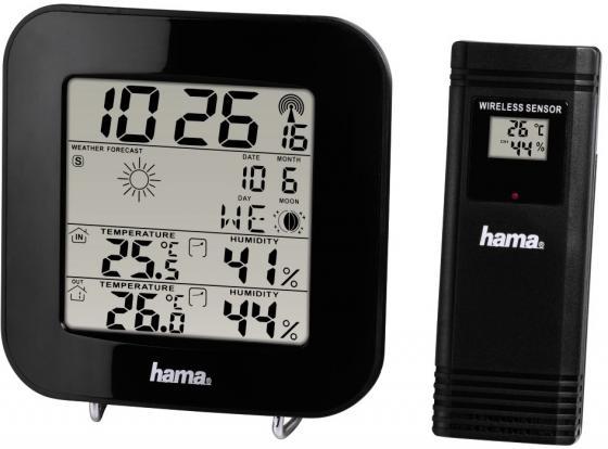 Метеостанция Hama 136222 EWS-200 черный метеостанция hama th33 a черный