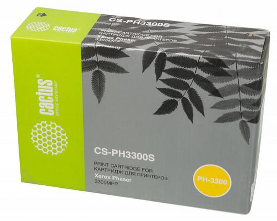 Картридж Cactus CS-PH3300S 106R01411 для Xerox Phaser 3300 черный 4000стр картридж xerox 106r01411 для phaser 3300 mfp x черный 4000 страниц