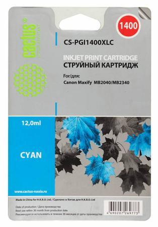 Картридж Cactus CS-PGI1400XLC для Canon MB2050/MB2350/MB2040/MB2340 синий