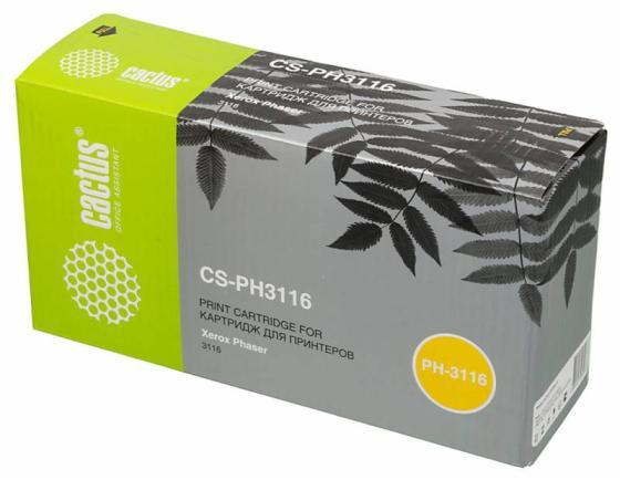 Картридж Cactus CS-PH3116 109R00748 для Xerox Phaser 3116 черный 3000стр картридж cactus cs ph3200 для xerox phaser 3200 mfp черный 3000стр