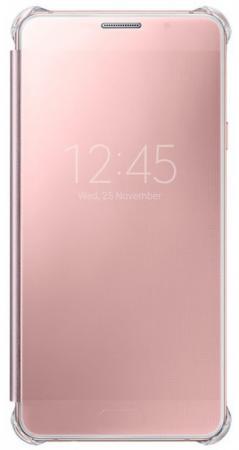 Чехол Samsung EF-ZA710CZEGRU для Samsung Galaxy A7 Clear View Cover розовый samsung ef za710c clear view cover чехол для galaxy a7 2016 silver