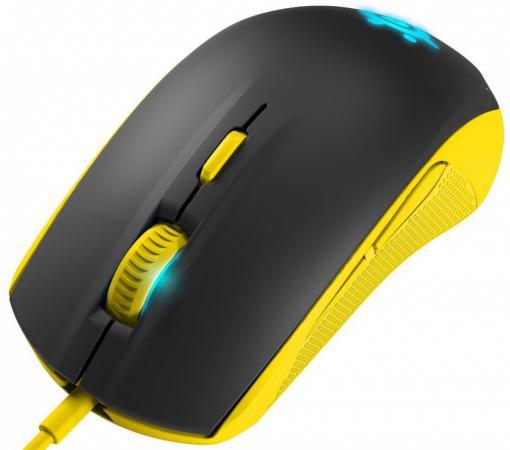 Мышь проводная Steelseries Rival 100 Proton чёрный жёлтый USB 62340 steelseries spectrum 4xb в днепропетровске