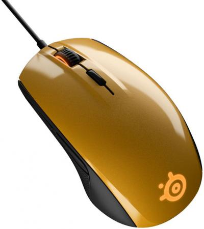 Мышь проводная Steelseries Rival 100 Alchemy золотистый чёрный USB 62336 мышь steelseries rival 100 proton yellow usb [62340]