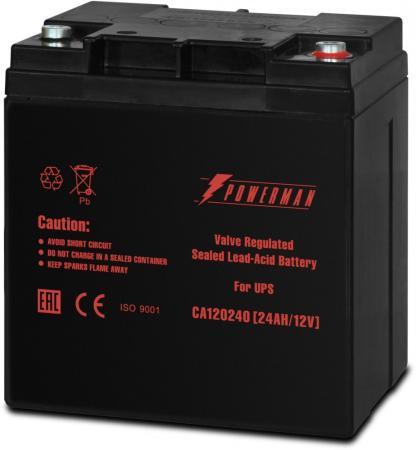 Батарея Powerman CA12240 12V/24AH батарея powerman ca121000 12v 100ah