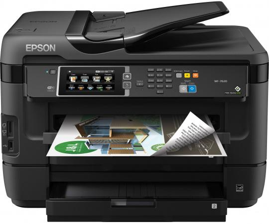 МФУ Epson WorkForce WF-7620DTWF цветное А3 32/20ppm 4800x2400dpi Ethernet USB Wi-Fi C11CC97302 мфу а3