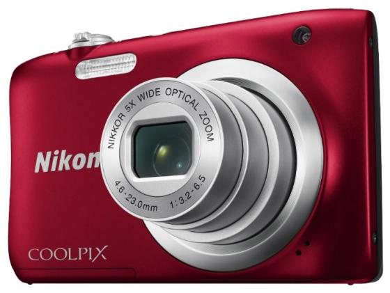 Фотоаппарат Nikon Coolpix A100 20Mp 5x Zoom красный фотоаппарат nikon coolpix a100 purple 20 1mp 5x zoom sd usb 2 6
