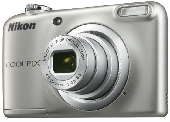 Фотоаппарат Nikon Coolpix A10 16Mp 5x Zoom серебристый фотоаппарат nikon coolpix a10 black 16mp 5x zoom sd usb 2 7