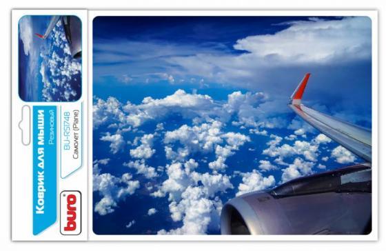 Коврик для мыши Buro BU-R51748 самолет коврик для мыши buro bu r51748 рисунок самолет