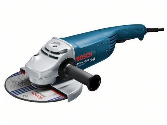 Углошлифовальная машина Bosch GWS 24-180 H 180 мм 2400 Вт шлифовальная машина bosch gws 12 125 cix 0601793102