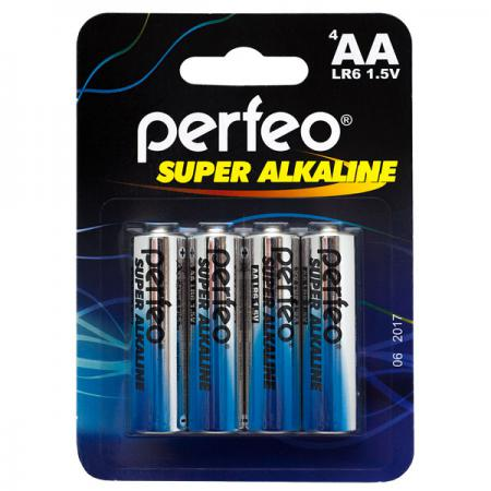 Батарейки Perfeo LR6/4BL Super Alkaline AA 4 шт ag8 lr55 1 55v alkaline cell button batteries 10 piece pack